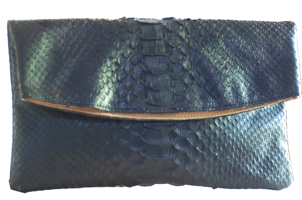 tas-kulit-denissa-black-python