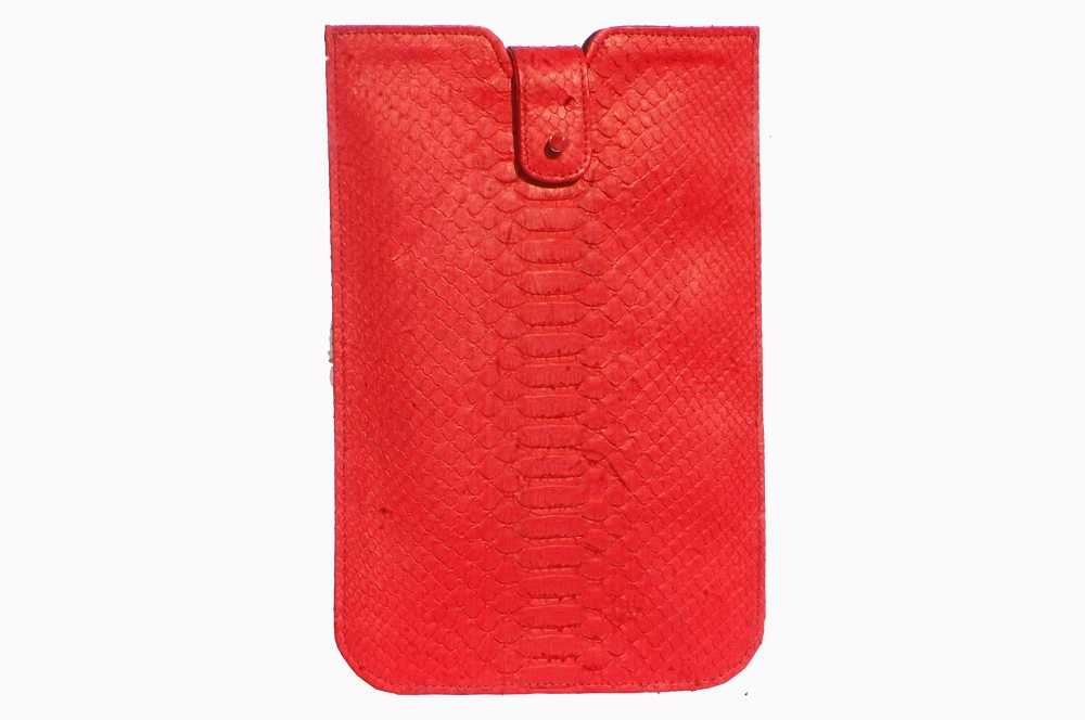 tas-kulit-ipad-air-sleeve-red-python-leather